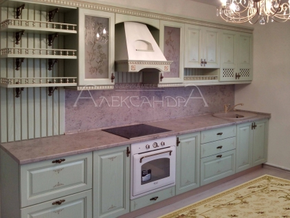 Кухня фото с салатовыми фасадами